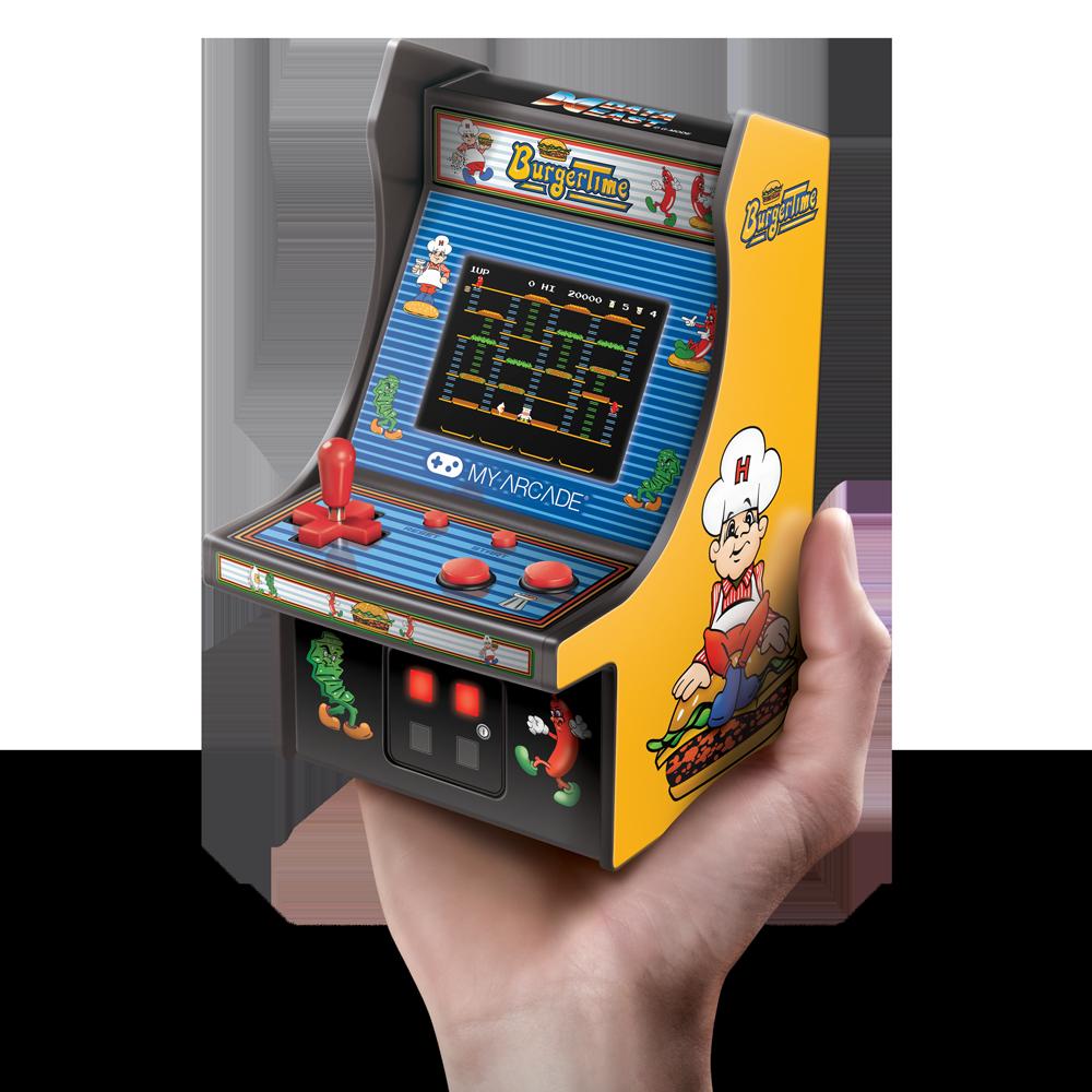 My Arcade - hand holding Burger Time machine