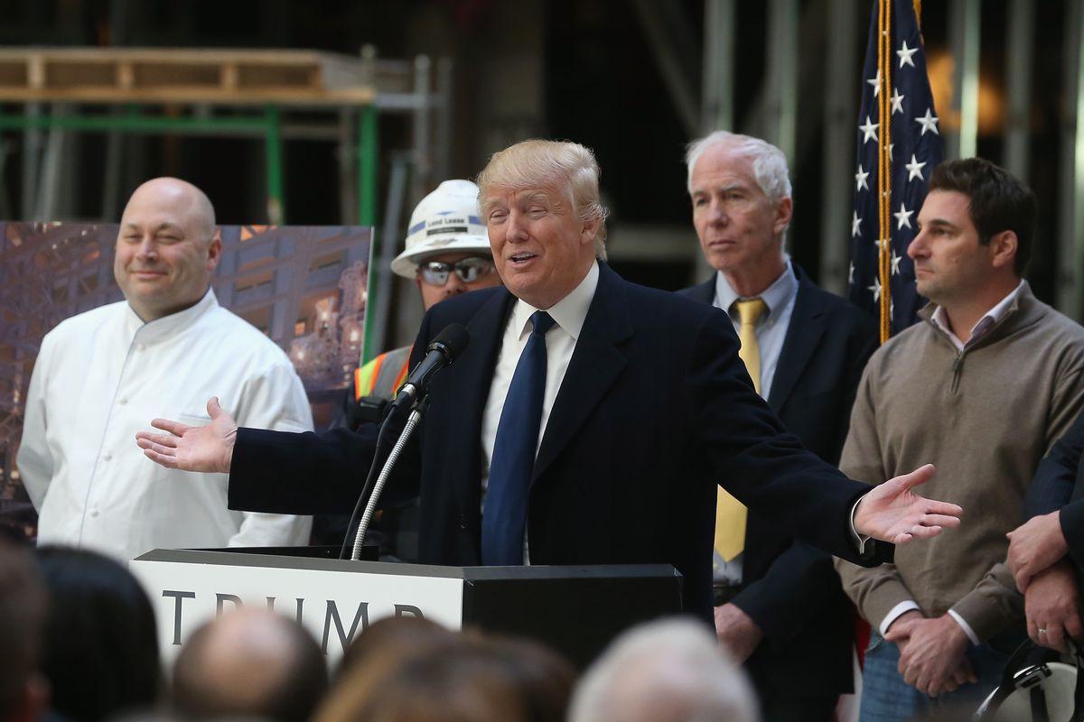Donald Trump at the Trump Hotel in D.C.