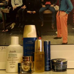 My skin is super dry 365 days of the year. <b>I've been known to use face masks as moisturizers.</b> Tonight I'm going through a little TLC skincare routine: <b>Hydropeptide</b> peel, <b>Dior</b> Super Nutrition Oil, <b>Dior</b> L'Or de Vie for Eyes and L