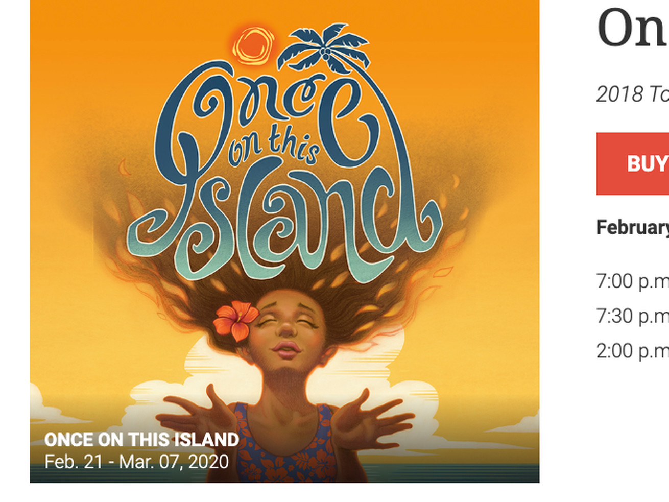 'Once on This Island' discusses issues of race and class in communities of color