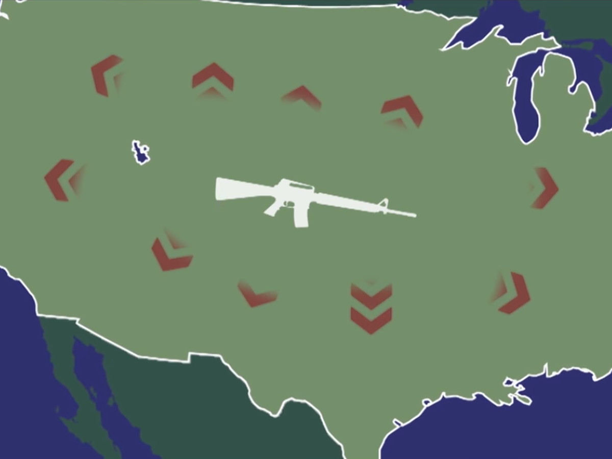 Kim kardashian khlo kardashian and kylie jenner are all this european comedy sketch explains how the world sees americas gun problem from the outside its just baffling nvjuhfo Choice Image