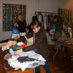 More than 50 swappers combed through what started out as a well-organized array of clothing