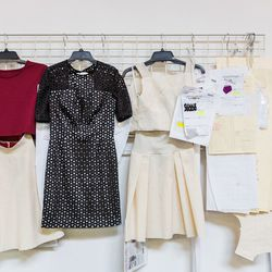 Samples that include the hit two-piece dress.