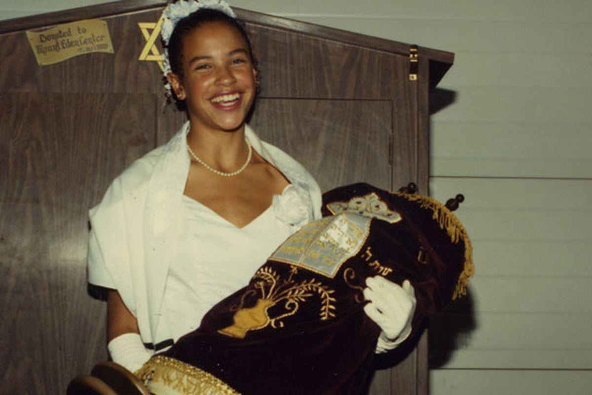 Schwartz at her bat mitvah, in a still from Little White Lie.