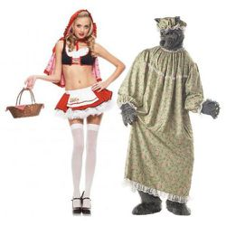 """""""Cherry Red Riding Hood"""" has managed to be both in-your-face slutty and truly terrifying. Also unfair: Who wants to dress as a wolf granny when their partner gets to wear crop-top lederhosen?"""