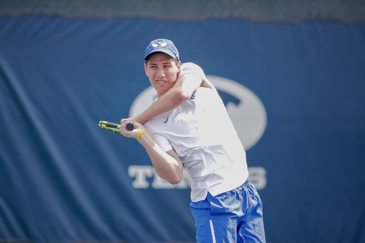 Ben Gajardo of the BYU men's tennis team will face Loyola Marymount and Pepperdine with his teammates on Friday and Saturday.