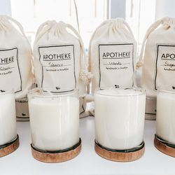"""<b>Apotheke</b> Soy Candle, <a href=""""http://beambk.com/products/basil-citrus-soy-candle"""">$30</a>"""
