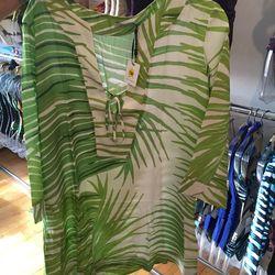 Fern pattern tunic, $120 (was $286)