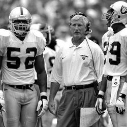 Fred Whittingham, center, father of U. coach Kyle Whittingham, coached in the NFL with the Oakland Raiders (1995-97).