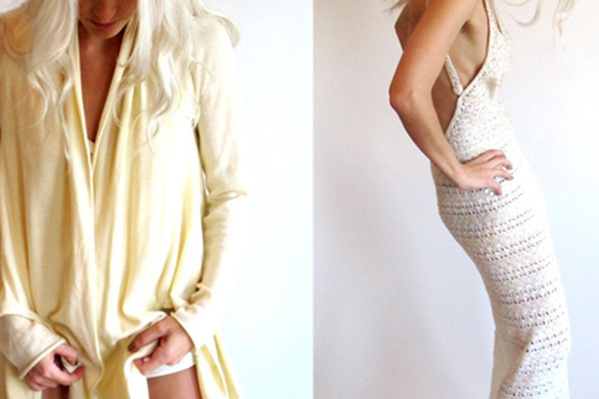 "Cardigan and vintage dress for sale on <a href=""http://closetrich.com/"">Closet Rich</a>."