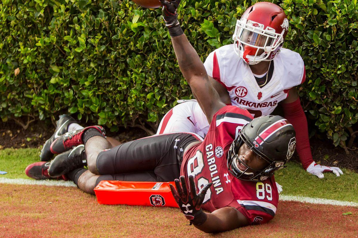NCAA Football: Arkansas at South Carolina