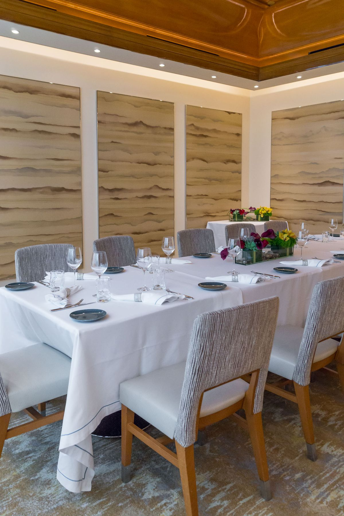 The private dining room at Michael Mina