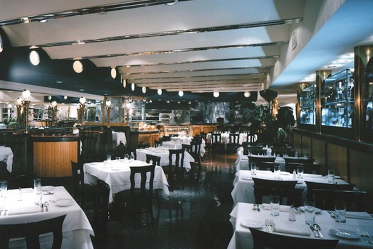 The dining room at Pricci.