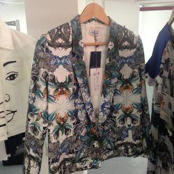 Mandarin & General blazer, $177 (was $590)