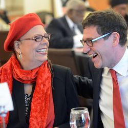 Chicago Teachers Union President Karen Lewis and Vice President Jesse Sharkey at the annual CTU Dr. Martin Luther King Jr. celebration at the Kroc Community Center. Thursday, January 15, 2015.