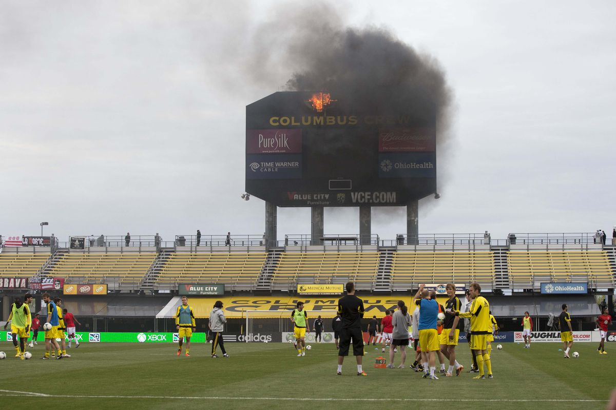 This week's matchup is between a team that had a scoreboard fire and a team that's currently a dumpster fire.