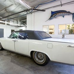 What's a huge space without a classic car for decor?