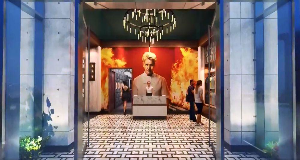 Gordon Ramsay Hell's Kitchen entrance rendering