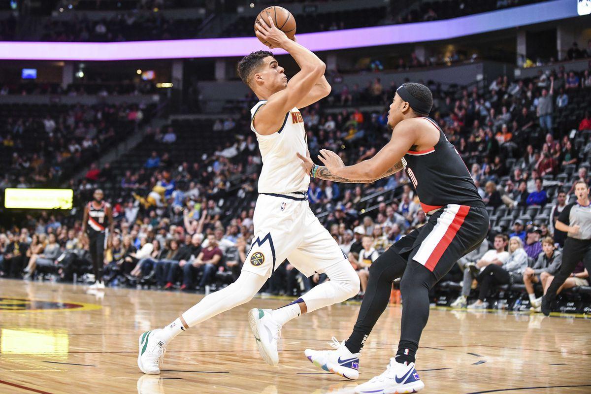 NBA: Preseason-Portland Trail Blazers at Denver Nuggets