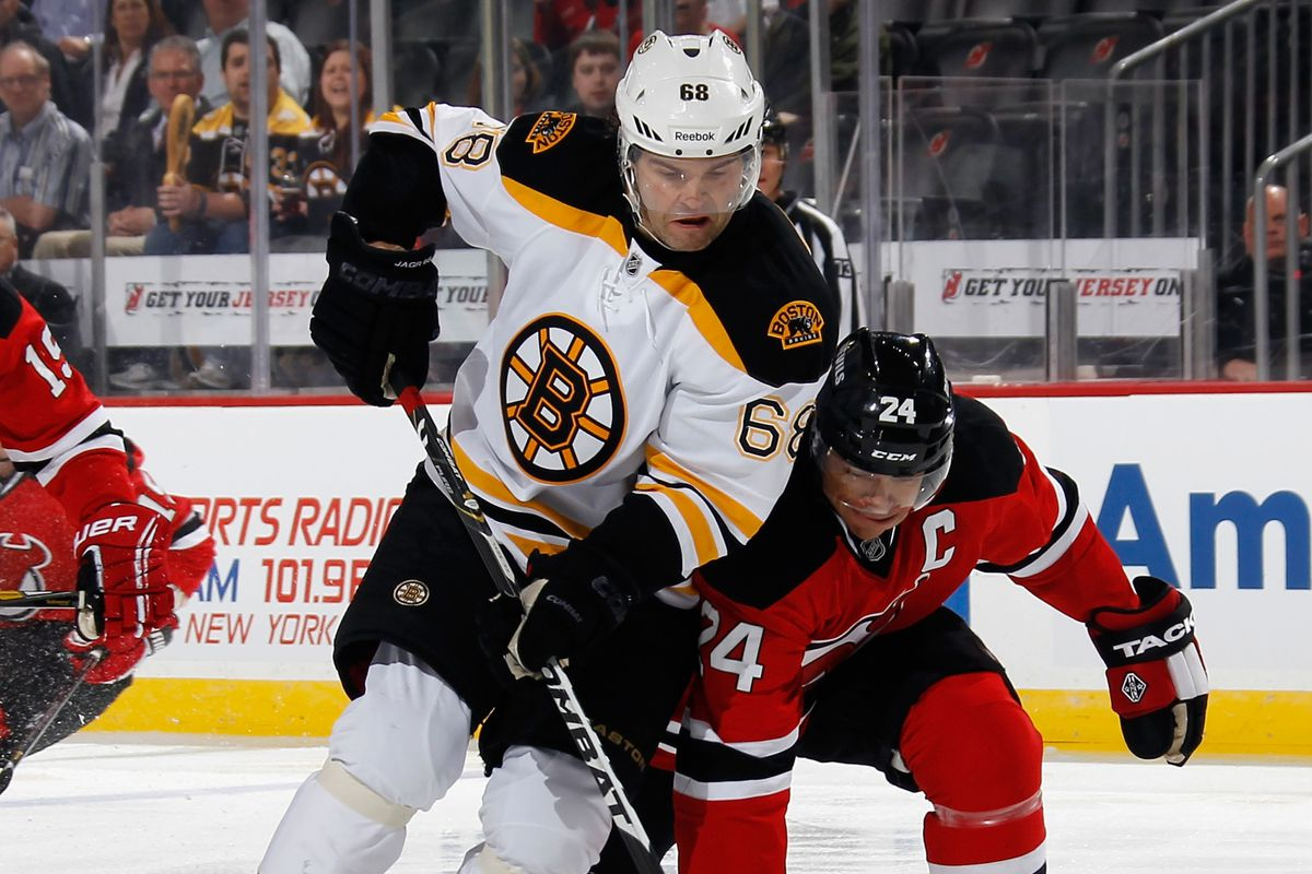 In 2013-14, Jagr won't have to box out Bryce Salvador.  They'll be on the same team.