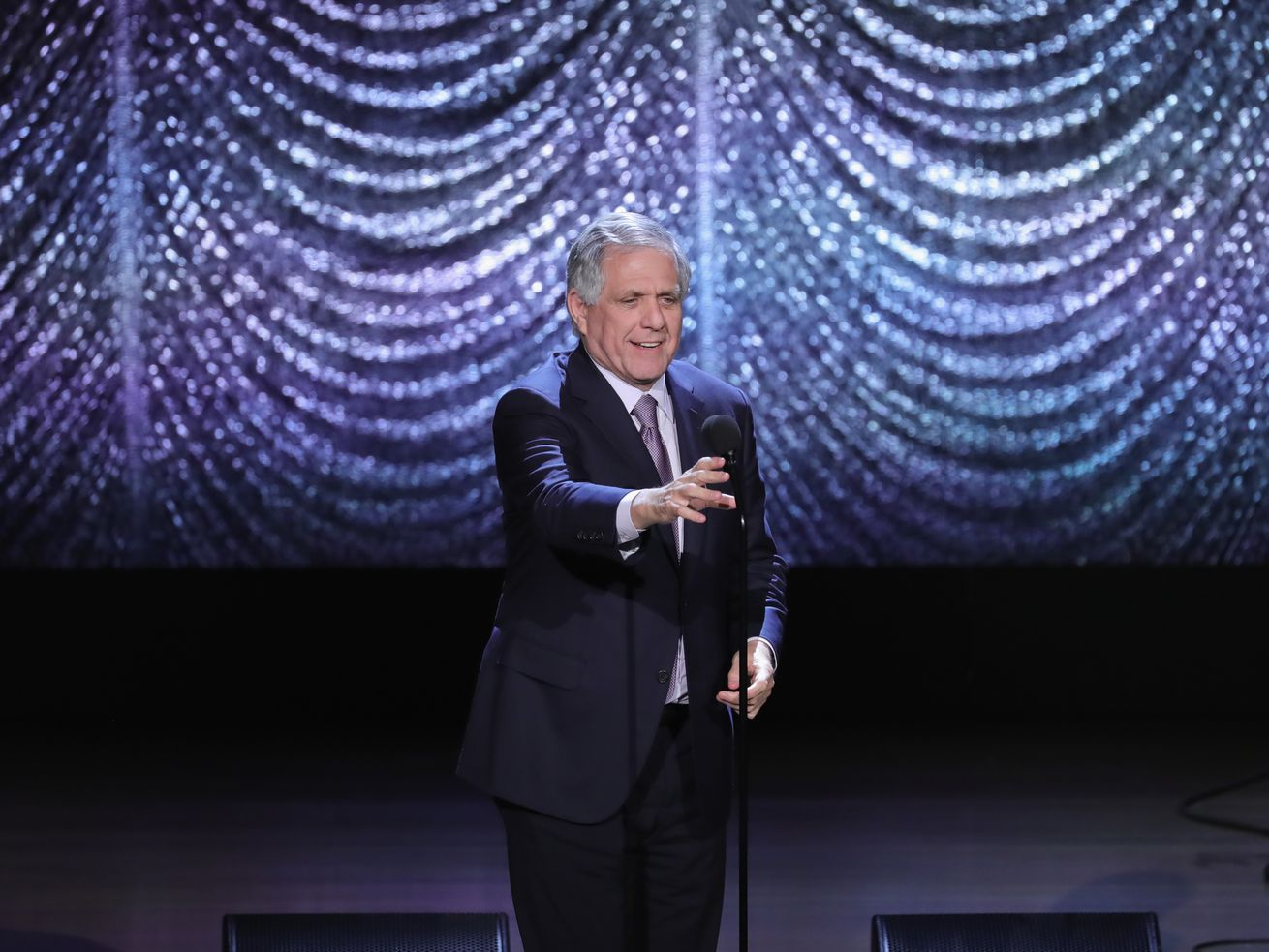 Leslie Moonves speaks onstage during Lincoln Center's American Songbook Gala at Alice Tully Hall on February 1, 2017, in New York City.