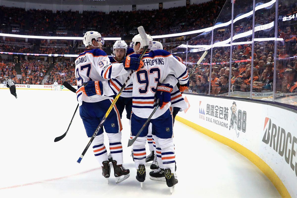 Edmonton Oilers v Anaheim Ducks - Game One