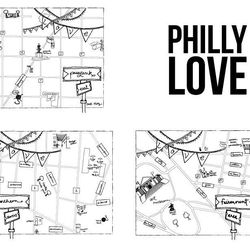 """Illustrated Philly neighborhood maps from <a href=""""http://www.etsy.com/shop/zucchiniandco"""">Zucchini & Co.</a>"""