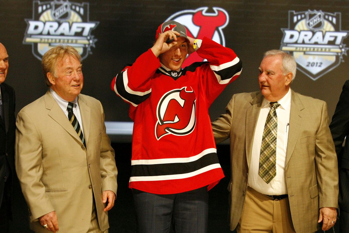 Stefan Matteau is selected as the number twenty-nine overall draft pick to the New Jersey Devils in the 2012 NHL Draft at CONSOL Energy Center. Charles LeClaire-US PRESSWIRE