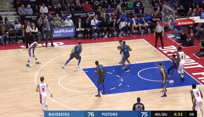 Screen Shot 2019 02 01 at 8.39.56 AM - Blake Griffin and Reggie Jackson played the most miserable 13 seconds of hot potato basketball