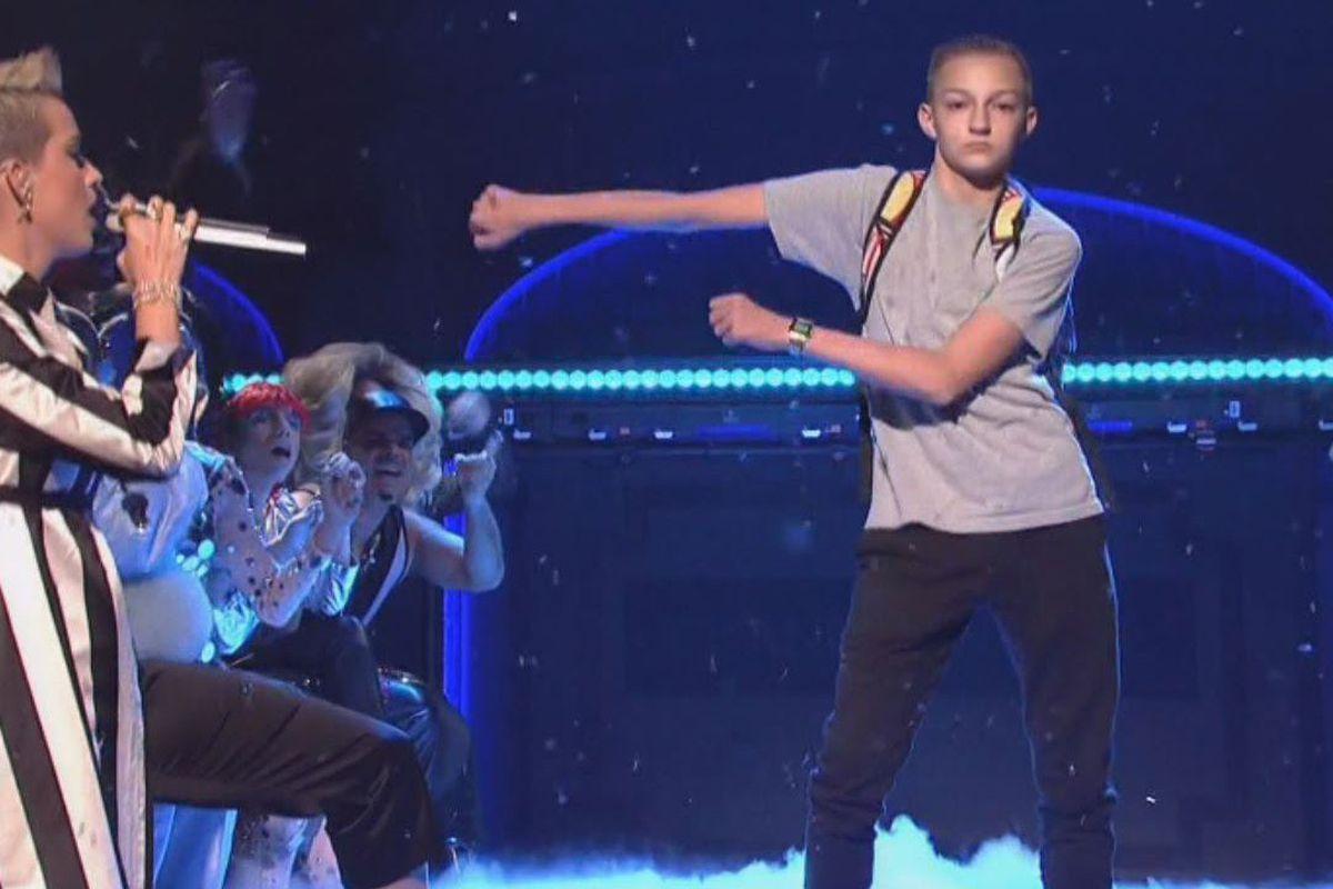 Backpack Kid dancing on SNL