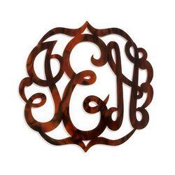 """Script acrylic monogram coaster set, <a href=""""http://www.baublebar.com/script-acrylic-monogram-coaster-set.html"""">$58</a>"""