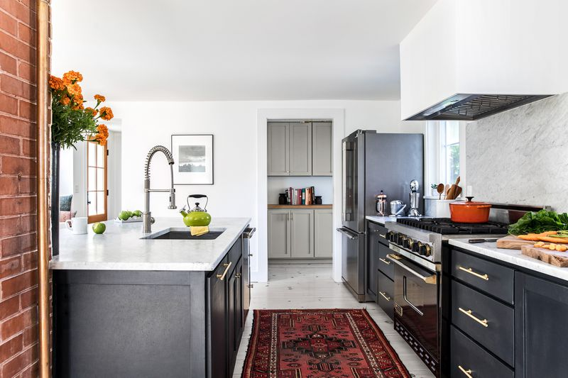 a Cape Cod-style remodel in Cumberland Foreside, ME, kitchen