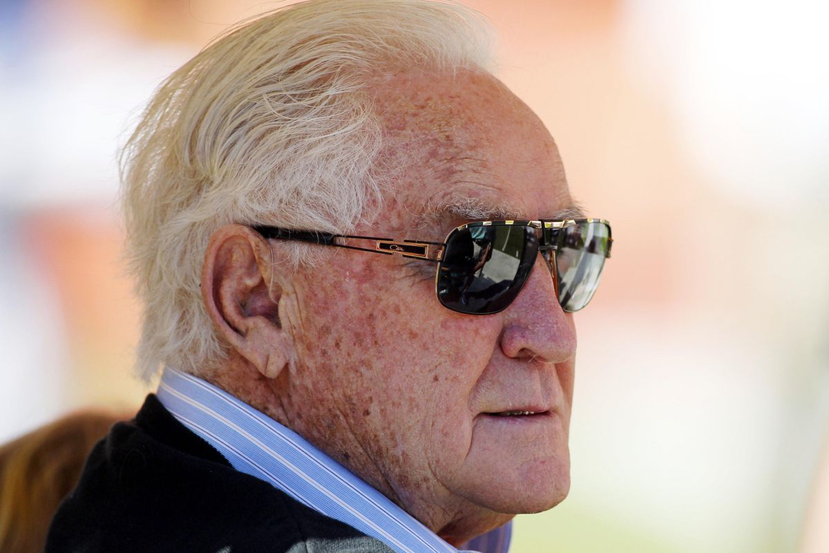 NOV 25, 2012; Miami, FL, USA;  Hall of Fame head coach Don Shula before a game between the Seattle Seahawks and Miami Dolphins at Sun Life Stadium.