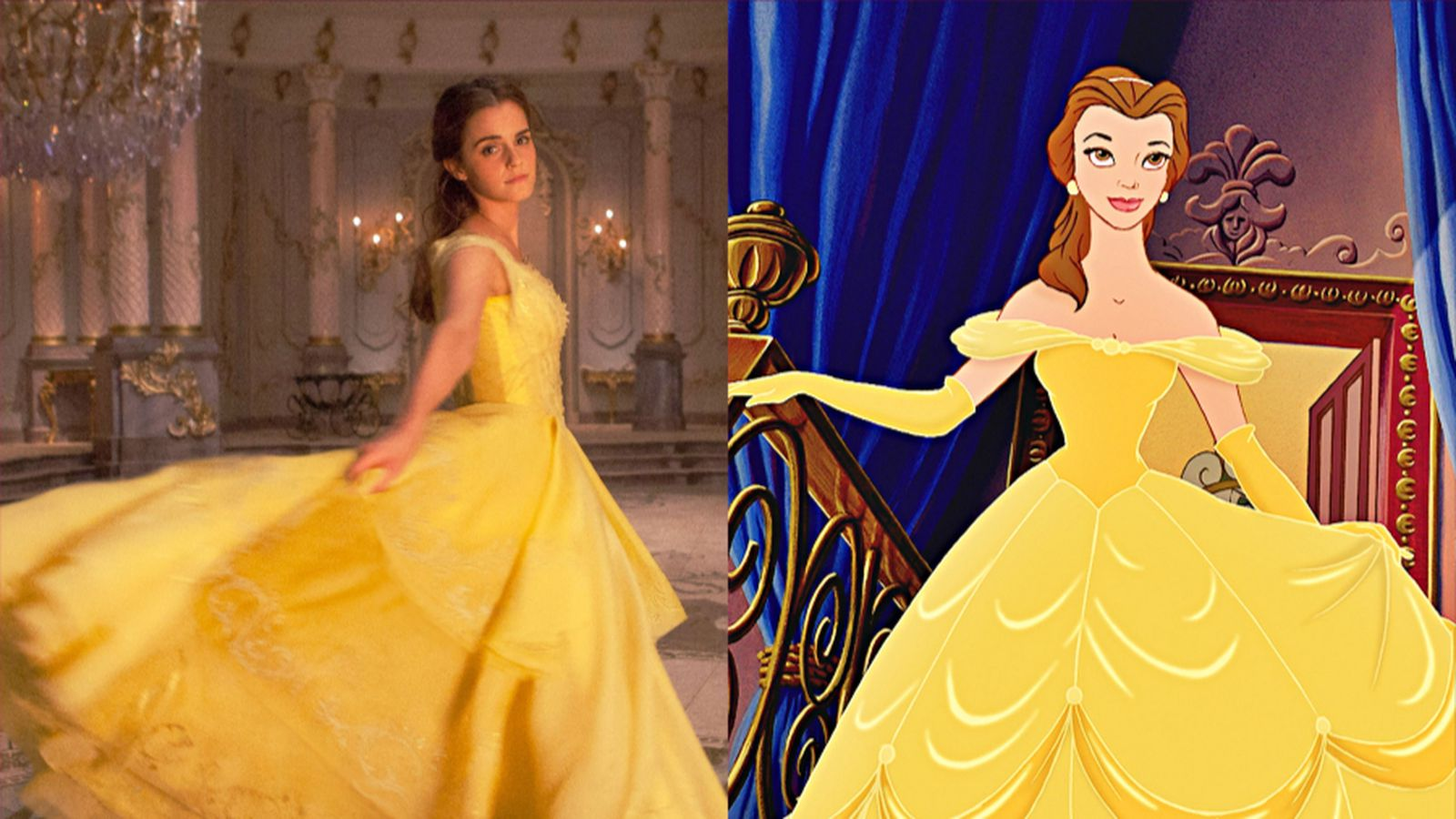Belle S Costumes Don T Fit The Live Action Beauty And The