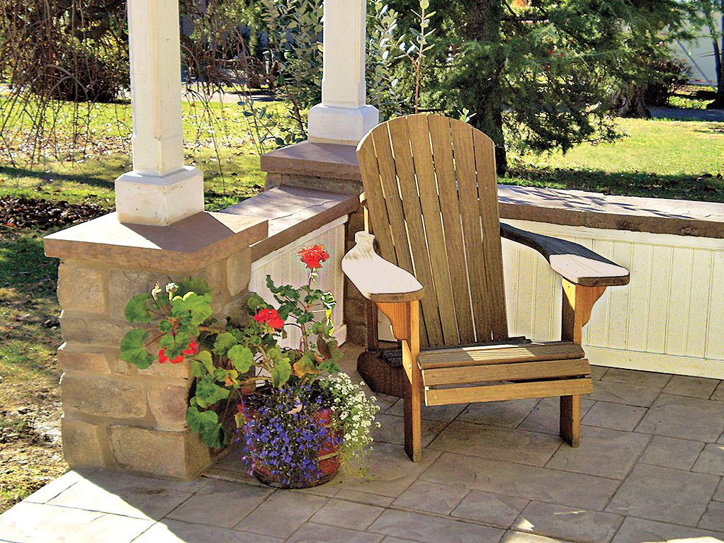 """<p><strong>Wainscot Outside</strong><br> Beadboard made of cellular PVC looks, installs, and paints just like wood or MDF. But unlike its fibrous competitors, it won't swell, rot, or attract mold or termites in wet areas. So go ahead and panel your porch in plastic; no one will be the wiser. The walls of the porch above are clad in 5-inch-wide tongue-and-groove beadboard sticks, about $4 per sq. ft., <a href=""""http://www.azek.com"""" target=""""_blank"""">Azek Building Products</a>.</p>"""