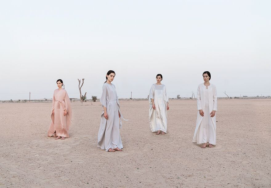 A Kaftan editorial featuring looks by different designers.