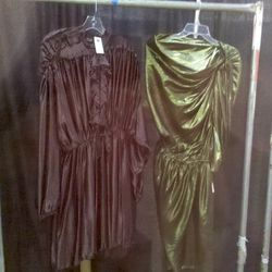 Two Lanvin dresses: at left, $1019 and $1349