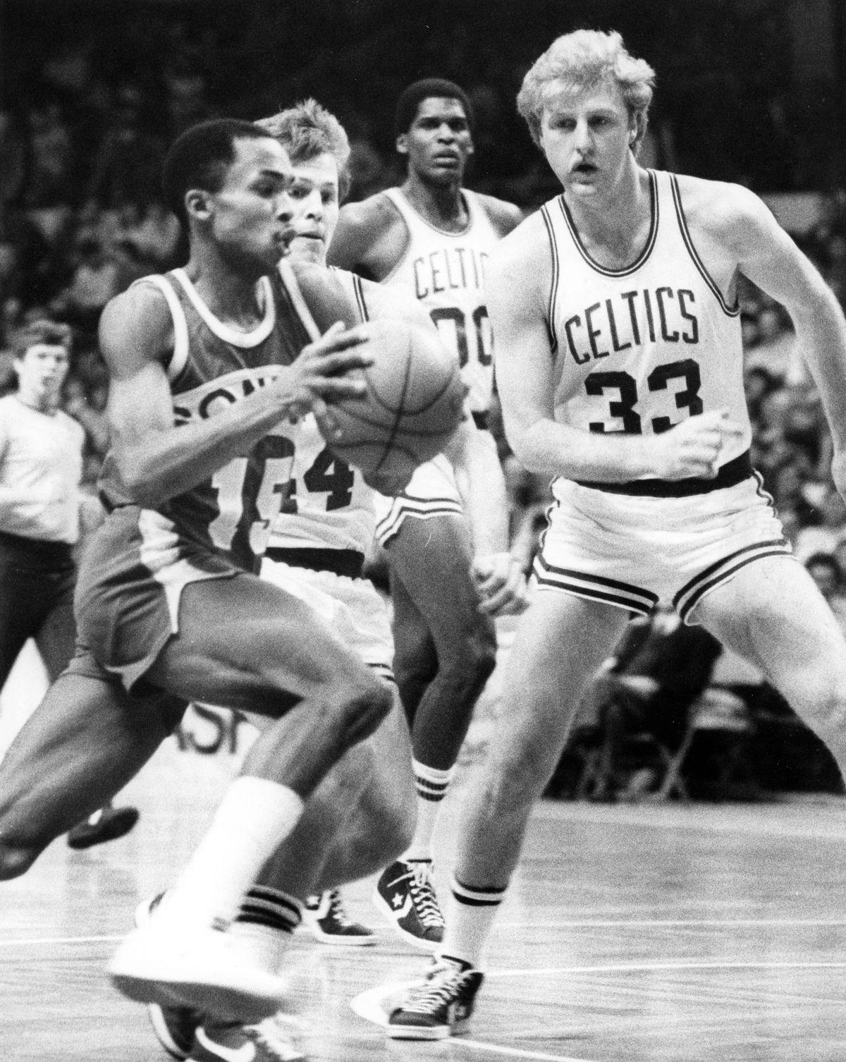 Settle SuperSonics Gerald Henderson And Boston Celtics Larry Bird