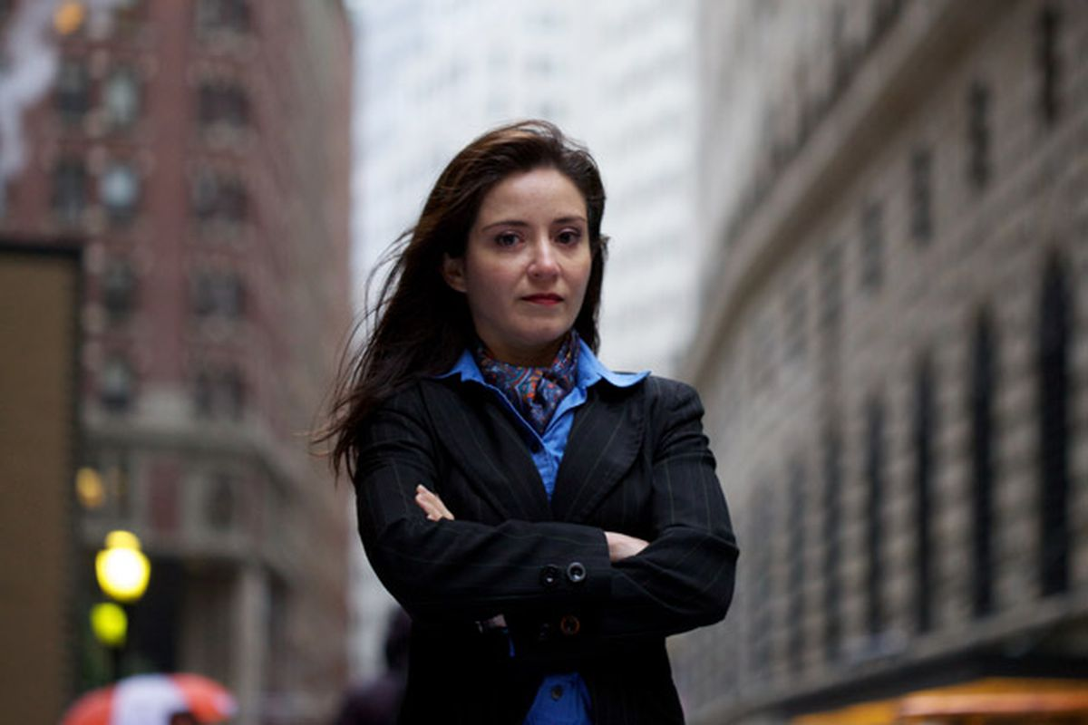 Carmen Segarra, the whistleblower who recorded meetings with Goldman and her colleagues at the New York Fed.