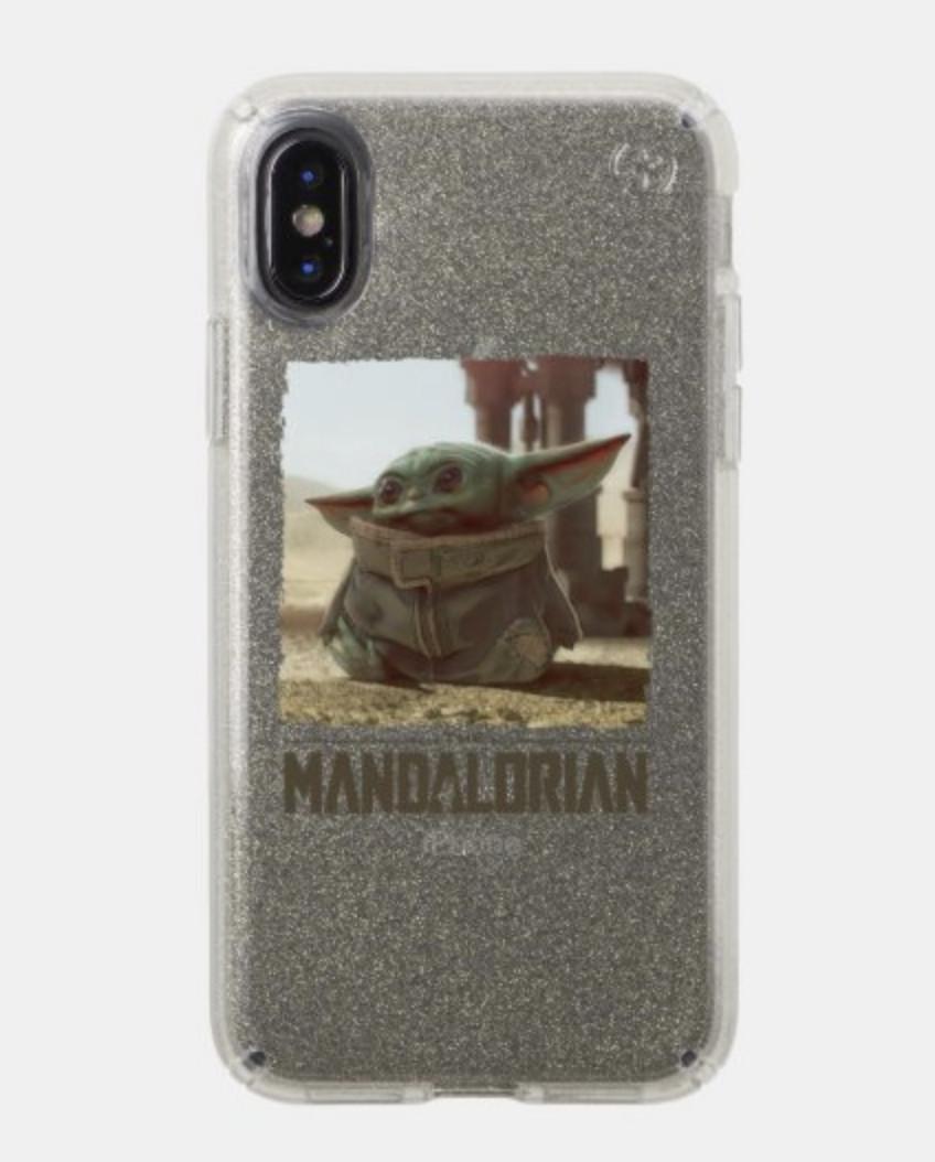 A customizable Baby Yoda phone case