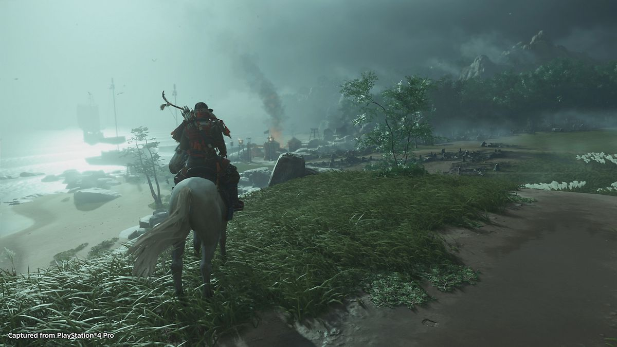 A landscape shot from Ghost of Tsushima
