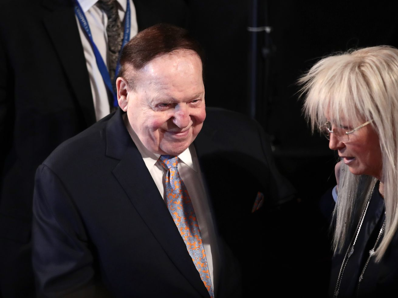 Conservative megadonor Sheldon Adelson attended the September 26, 2016 debate between Donald Trump and Hillary Cinton.