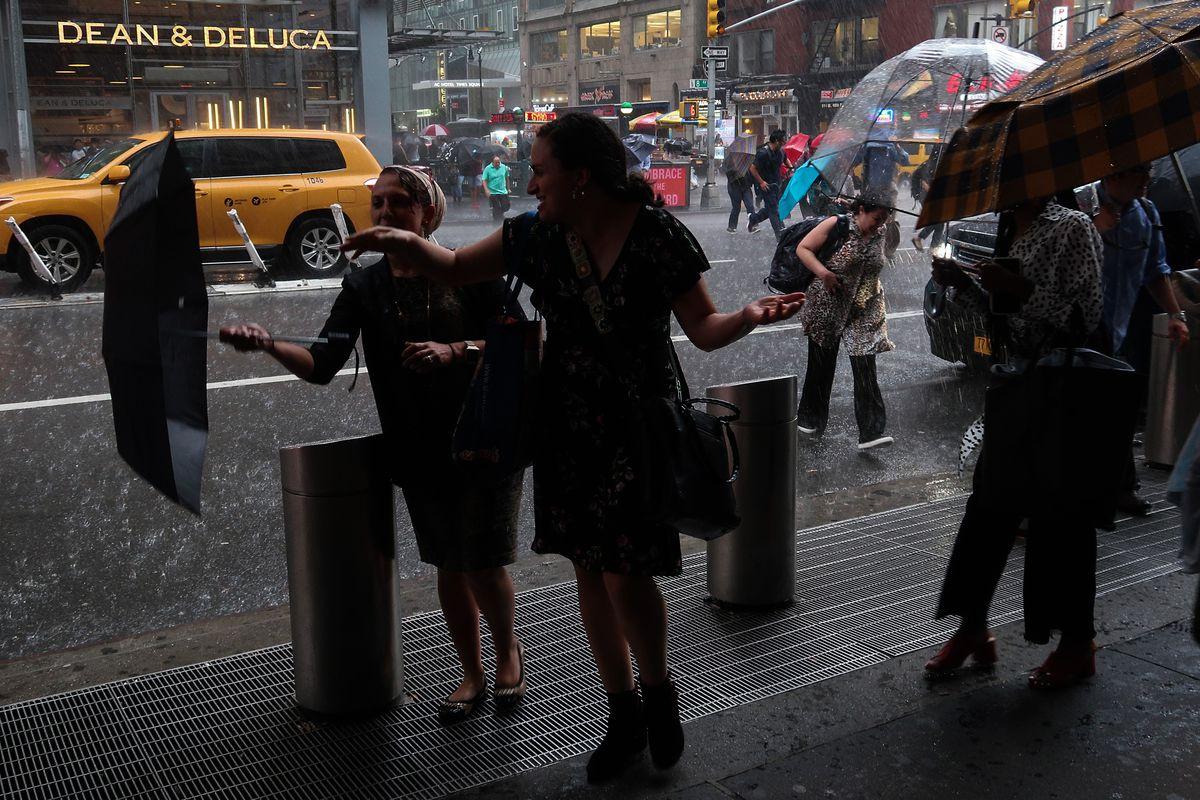 Rainy weather in New York