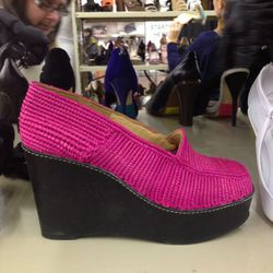<b>Carven</b> wedges, $259 (from $645)