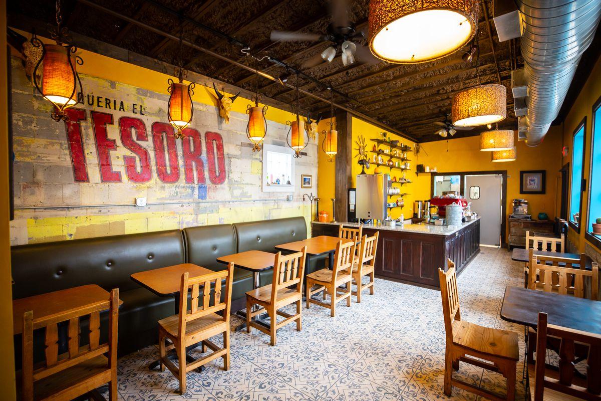 Inside the dining room at El Tesoro in Edgewood Atlanta