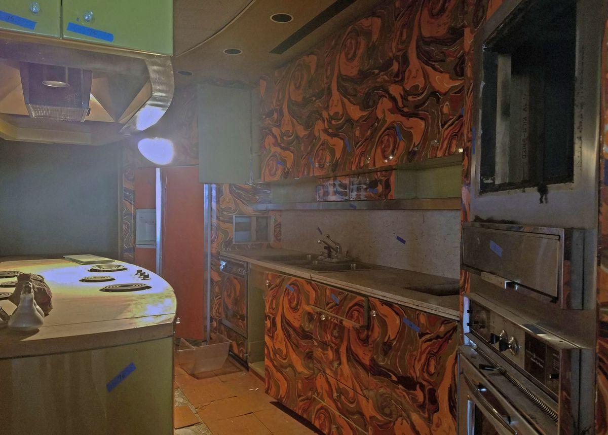 The unused Ebony test kitchen