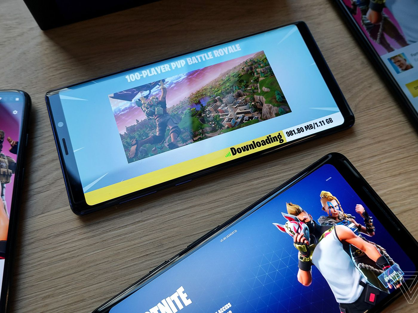 Fortnite On Android Is Now Available For Everyone The Verge Electric Circuit Wallpaper Green