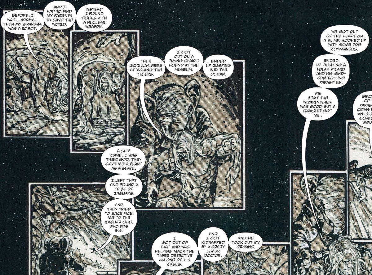 From The Kamandi Challenge #9, DC Comics (2017)