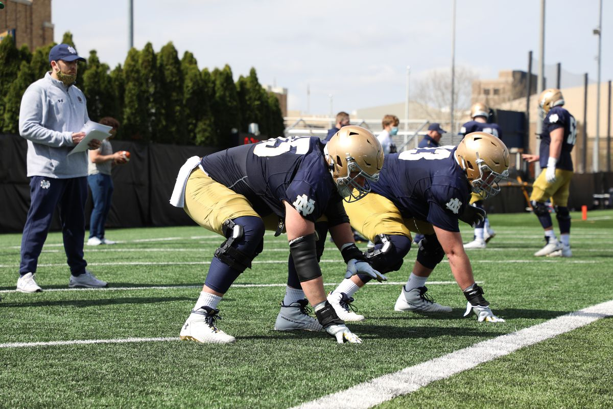 josh lugg and Andrew Kristofic Notre Dame Football