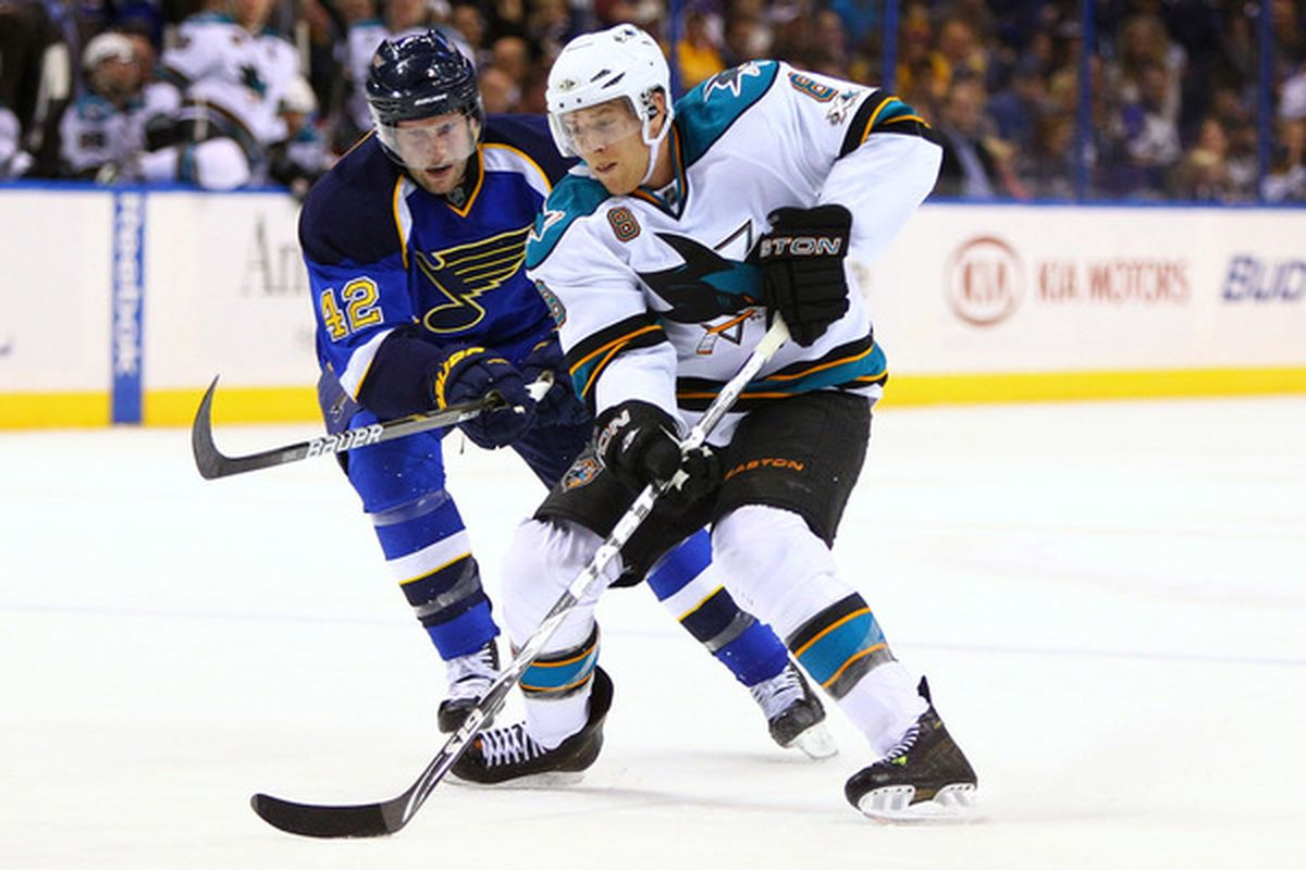 Expect to see a lot of American Olympian-on-American Olympian action in this series with Joe Pavelski and David Backes liable to become well-acquainted over the next two weeks.